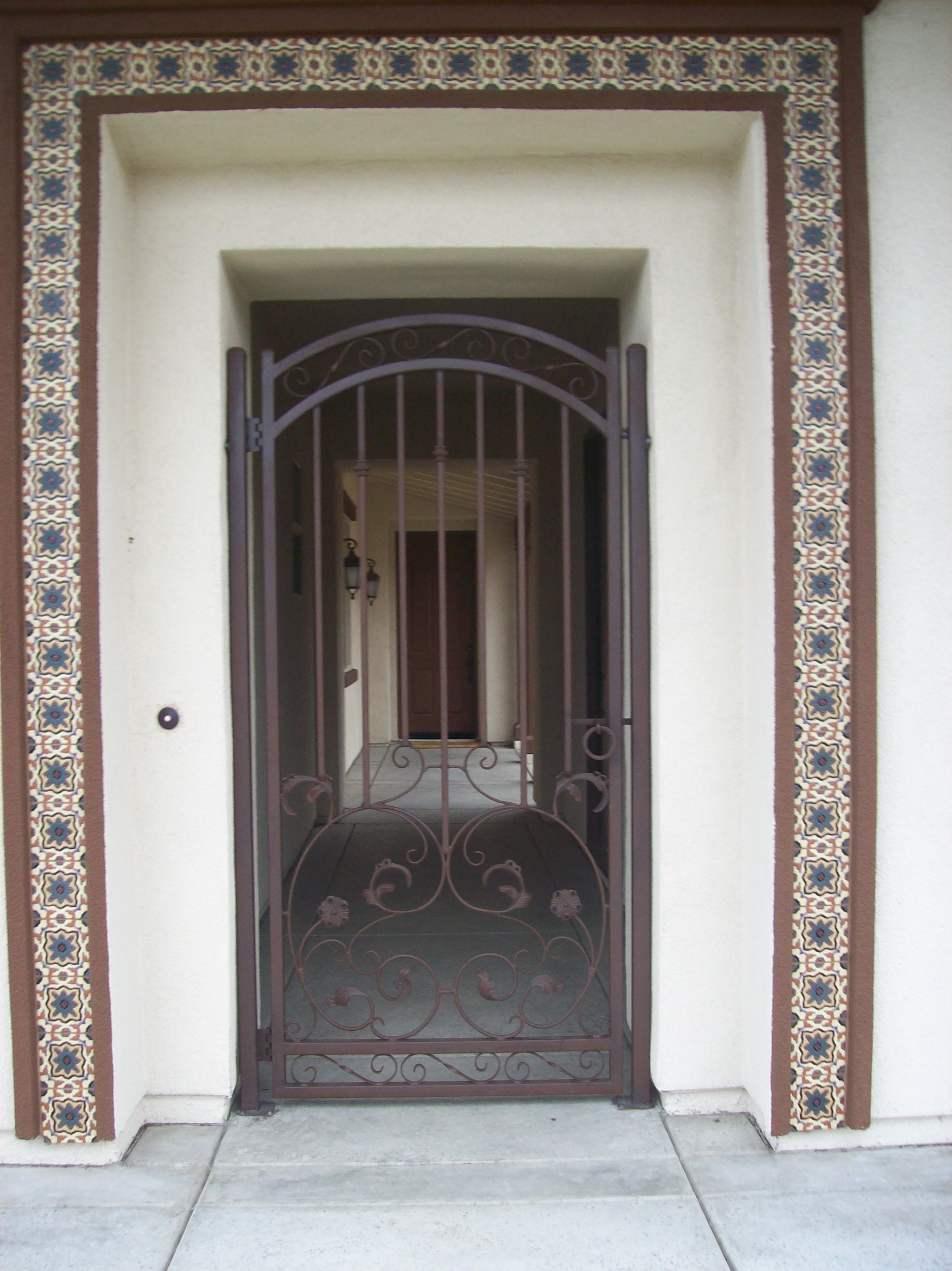 iron storm design regard ideas duty to heavy door wrought home with measurements doors x security collections screen image